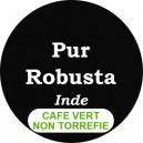 Café Robusta d'Inde - non torréfié