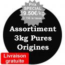 Assortiment de 3kg arabica Pures origines