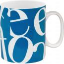 Mug Collage Bleu 30cl