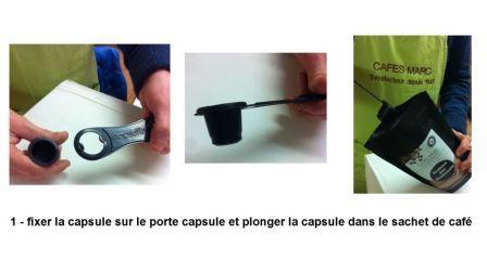 1- fixation capsule sur le porte capsule2