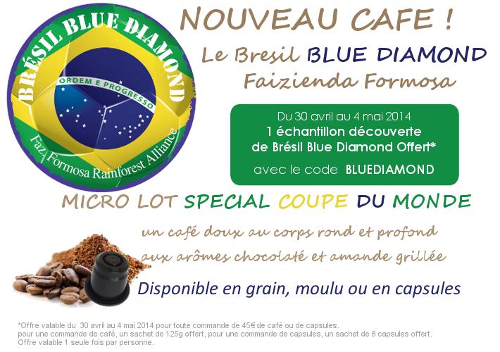 Café Bresil blue diamond