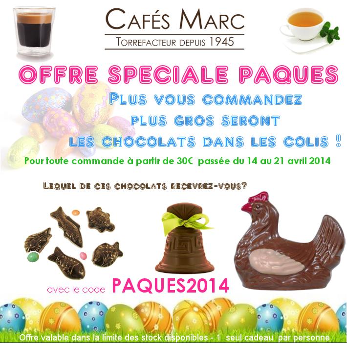 En CADEAU : Les chocolats de Pâques