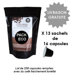 Pack 208 capsules pleines ECO