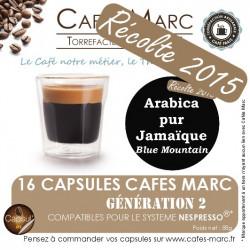 Café Jamaïque Blue Moutain récolte 2018 en capsules
