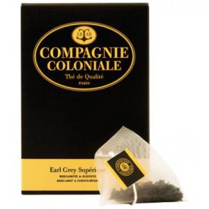 Thé Earl Grey supérieur en sachets cristal Compagnie Coloniale