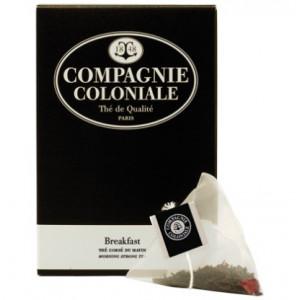 Thé Breakfast en sachets cristal Compagnie Coloniale