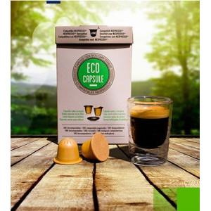 Eco' Capsules - Boite de 100 capsules Biodégradables à remplir