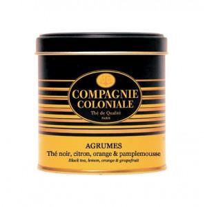Thé Agrumes en Boite Métal Luxe Compagnie Coloniale