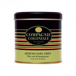 Thé Sencha Earl Grey en Boite Métal Luxe Compagnie Coloniale