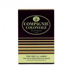 Thé vert au jasmin en sachets cristal Compagnie Coloniale