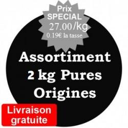 Assortiment de 2 kg arabica Pures Origines 100% Arabica