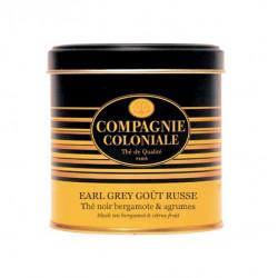 Thé noir Earl Grey Gout Russe en Boite Métal Luxe Compagnie Coloniale
