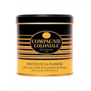 Thé noir Fruit de la Passion en Boite Métal Luxe Compagnie Coloniale