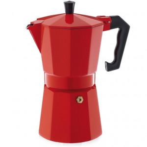 Cafetière Expresso Italienne Rouge Aluminium