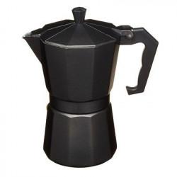 Cafetière Expresso Italienne Noire Aluminium