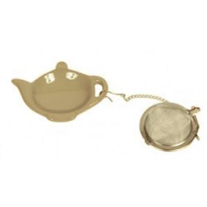 Infuseur à thé boule 5cm avec support forme théière