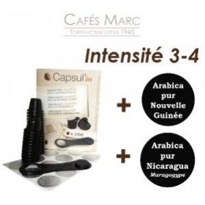 Lot capsules + cafés doux et aromatiques
