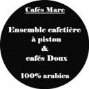Ensemble cafetière à piston Java rouge et cafés doux