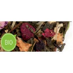 Thé vert Mûre et Rose Bio