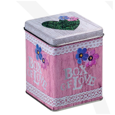 """Boite à thé en métal """" Box of Love """" 125g"""