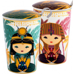 Tisanière Little Egypt 35 cl en porcelaine.