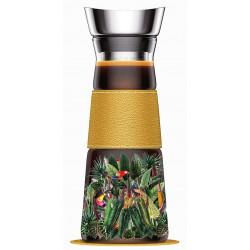 Carafe en Verre 1.30 Litre avec filtre inox - Jungle