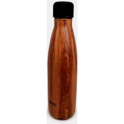 Gourde isotherme 0.50l en inox double parois - Bambou Bois