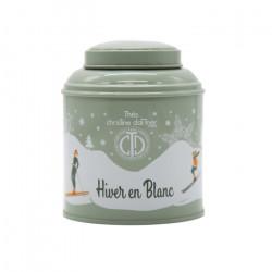 Thé Hiver en Blanc en boite métal luxe - ChrisTine DaTTner Paris
