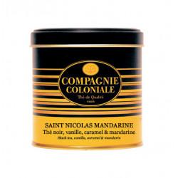 Thé noir Saint Nicolas Mandarine en boite métal luxe - Compagnie Coloniale