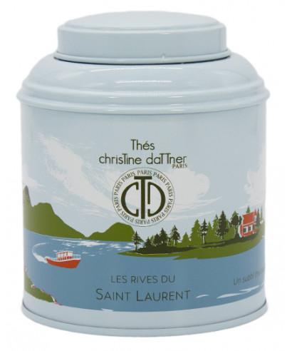Thé blanc Les Rives du Saint Laurent en boite métal luxe - ChrisTine DaTTner Paris
