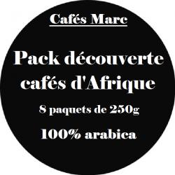 Assortiment découverte cafés d'Afrique