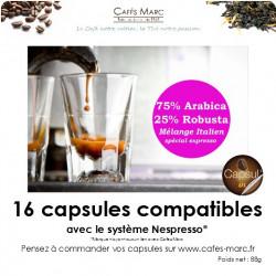 Café maison italien en capsule
