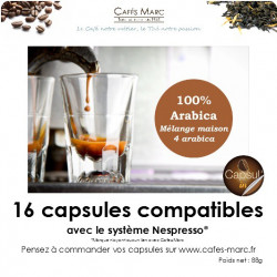 Café maison 4 arabica en capsules