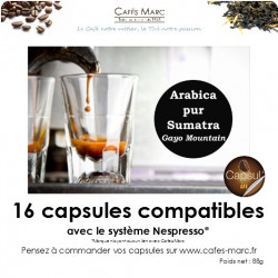 Café Sumatra Gayo Mountain en capsule