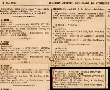 Bulletin Offciel 11 mai 1935
