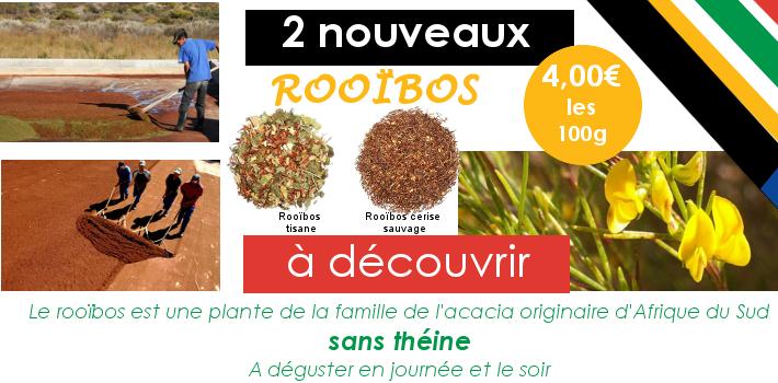 Rooïbos tisane et Rooïbos cerise sauvage