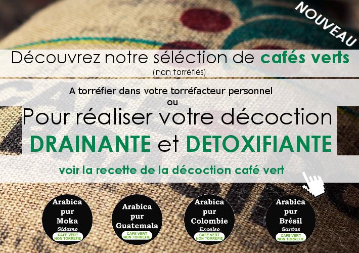 sélection cafes vert