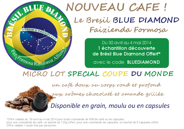 Café Bresil blue diamond